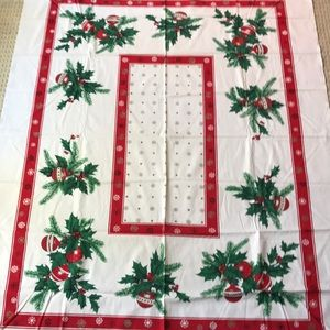 Vintage Christmas holiday tablecloth table cover